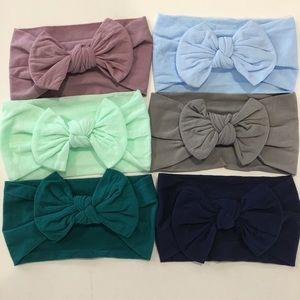 6 Nylon Baby Headband Headwrap